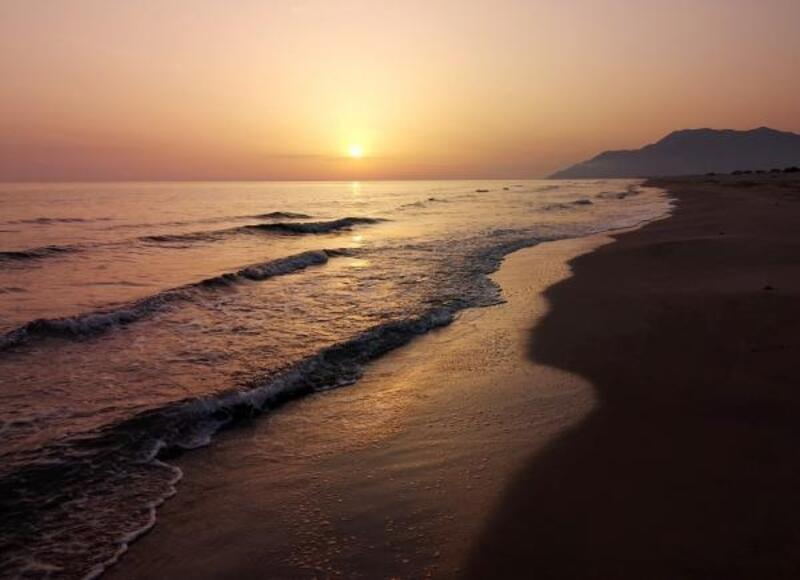 Patara'da gün batımı güzelliği
