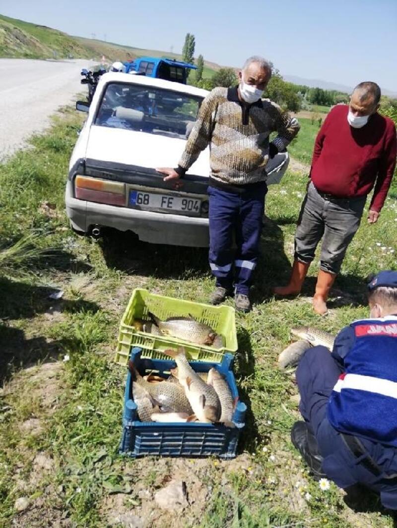 Kırşehir'de kaçak balık avı denetimi