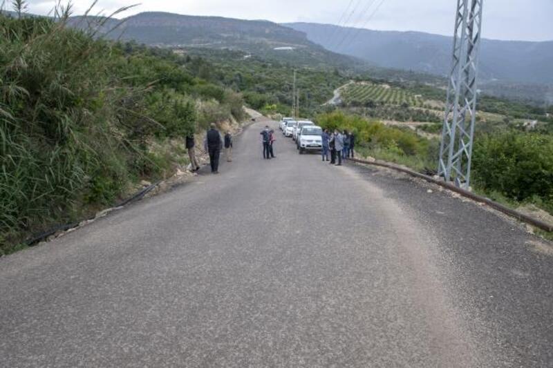 Hasat öncesi çöken yol onarıldı