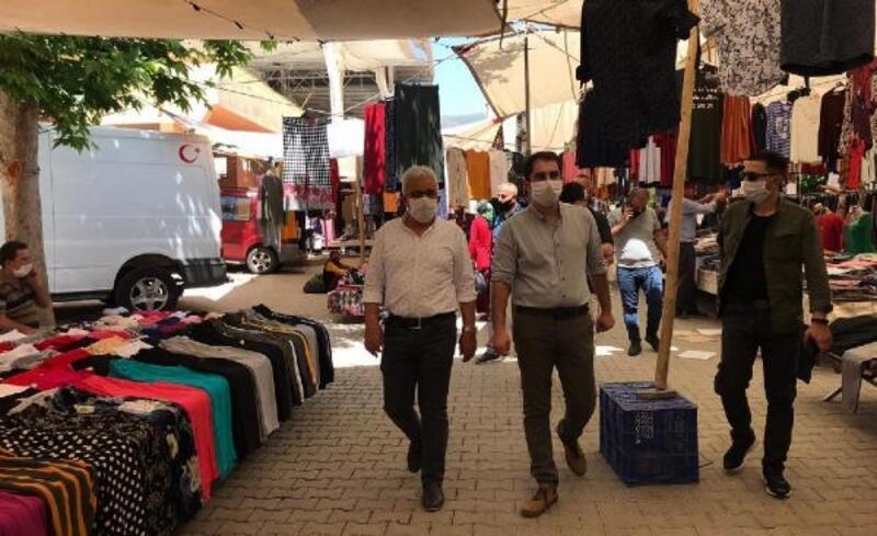 Kaymakam Akça, pazar alanını denetledi