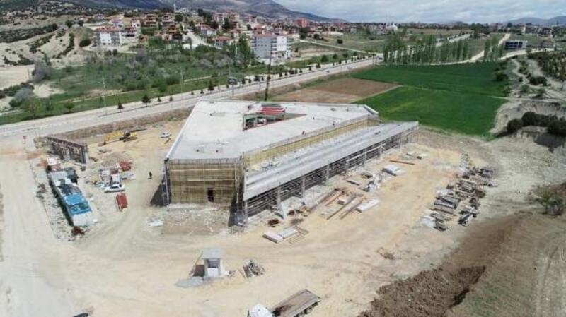 Elmalı Yeni Otogarı kaba inşaatı bitti