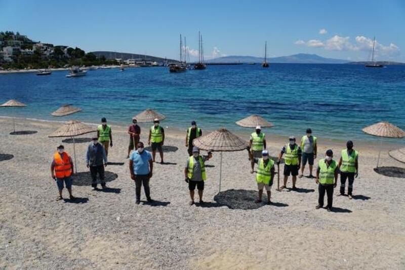 Bodrum'da halk plajları 1 Haziran'a hazırlanıyor