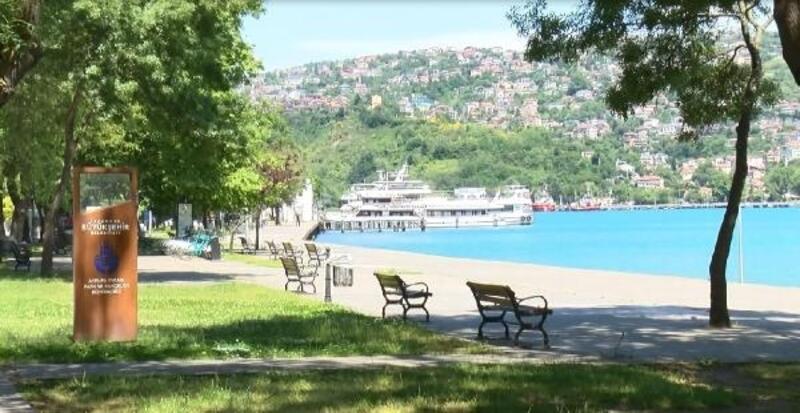 İstanbul'da sahiller boş kaldı