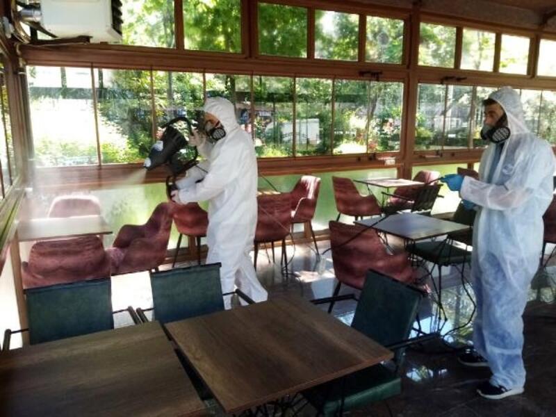 Sosyal tesisler dezenfekte edilerek kullanıma hazır hale getirildi