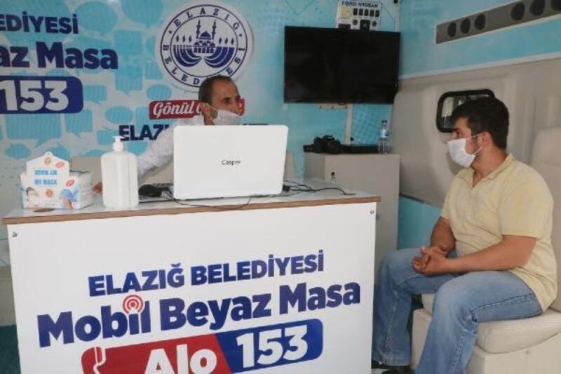 Elazığ Belediyesi'nden mobil masa hizmeti
