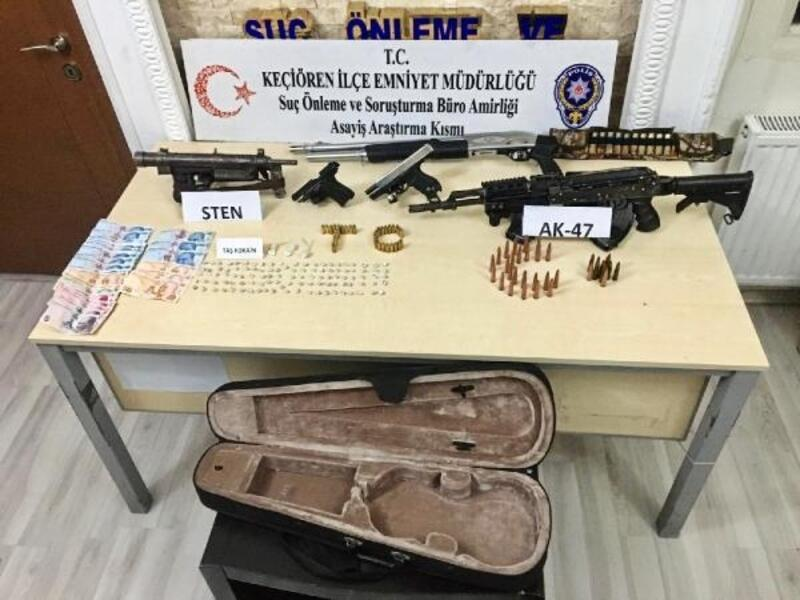 Uyuşturucu operasyonunda, tüfek ve mühimmat da ele geçirildi