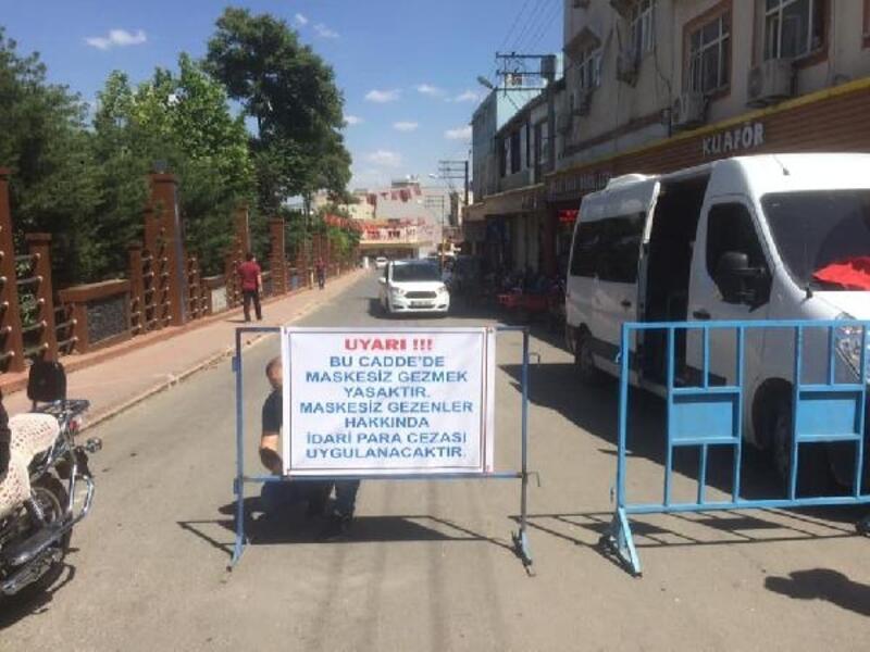 Ergani'nin 3 caddesinde maskesiz dolaşmak yasaklandı