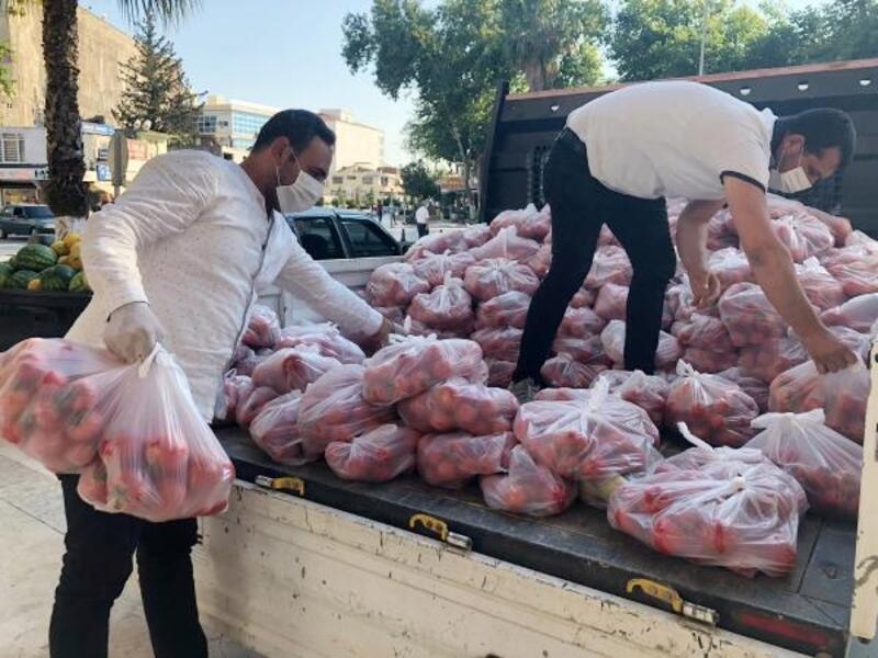 Karantina bölgesine gıda yardımı