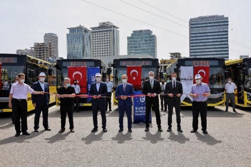 Bursa Büyükşehir Belediyesi 30 yeni otobüsü daha filosuna ekledi