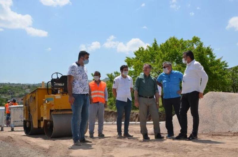 Hacılar Akyazı'da parke çalışması başladı
