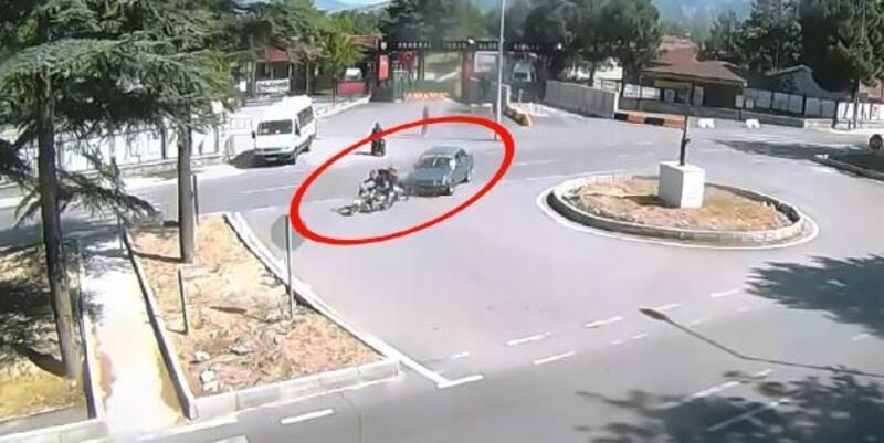 Isparta'da 3 kaza, kameralara yansıdı