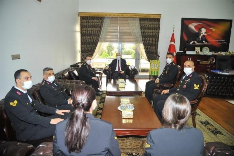 Jandarma Teşkilatından Vali Coşkun'a 181. Kuruluş Yıldönümü ziyareti