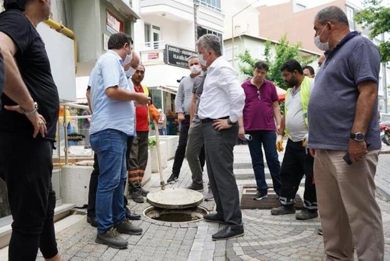 Başkan Gerenli, yağmurdan mağdur olan vatandaşları ziyaret etti