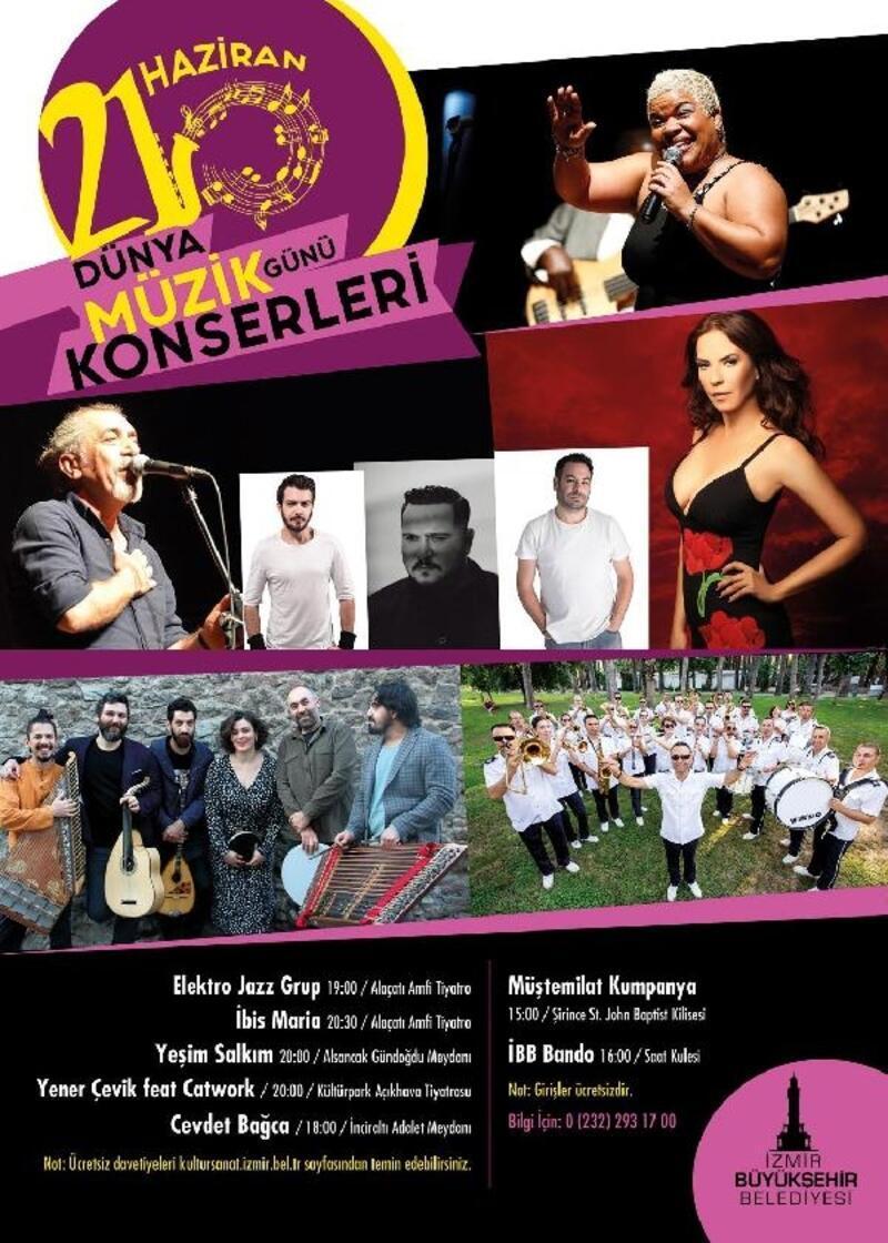 İzmir Büyükşehir Belediyesi'nden konserler