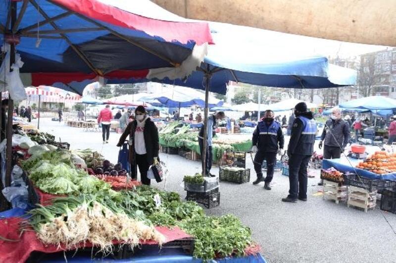 Nilüfer'de semt pazarlarına sokağa çıkma yasağı düzenlemesi