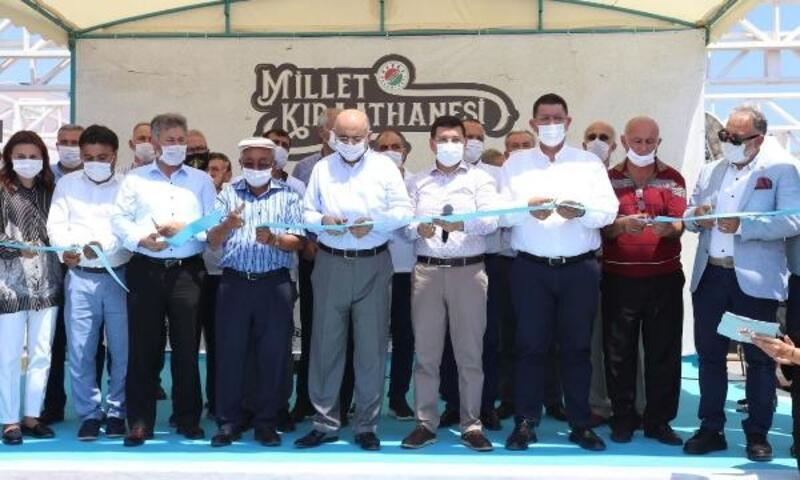 Kepez'in Millet Kıraathanesi açıldı
