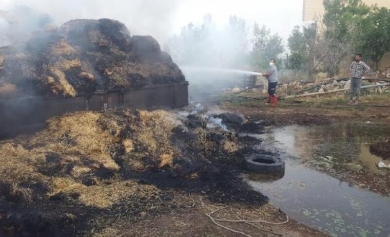 Saman balyaları yandı