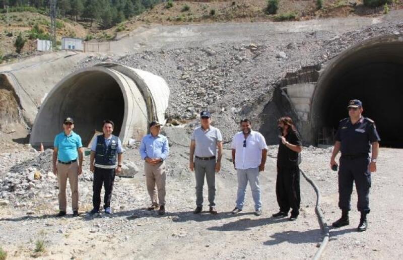 Demirkapı Tüneli'nde çalışma sürüyor