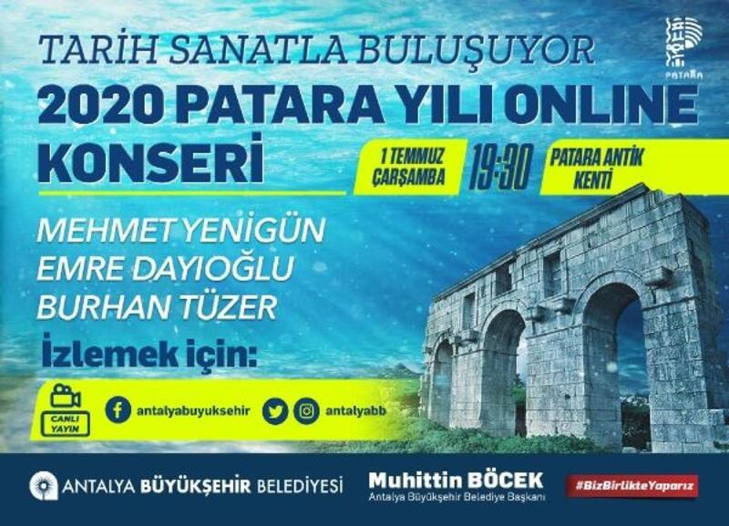 Patara Meclisi'nde 'online' konser