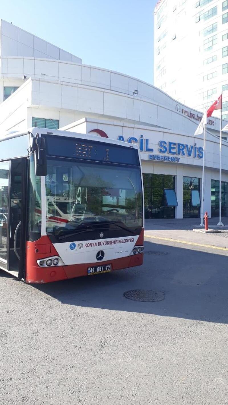 Konya'da sağlık çalışanlarına ücretsiz ulaşım ve otopark uygulaması devam ediyor