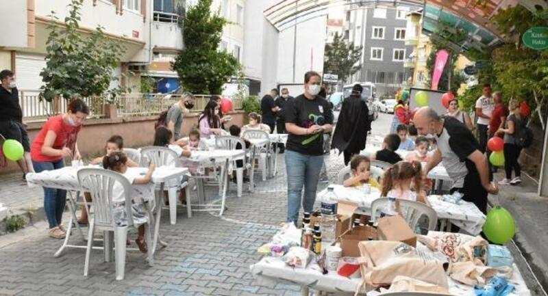 Lüleburgazlı çocuklara, taş boyama etkinliği