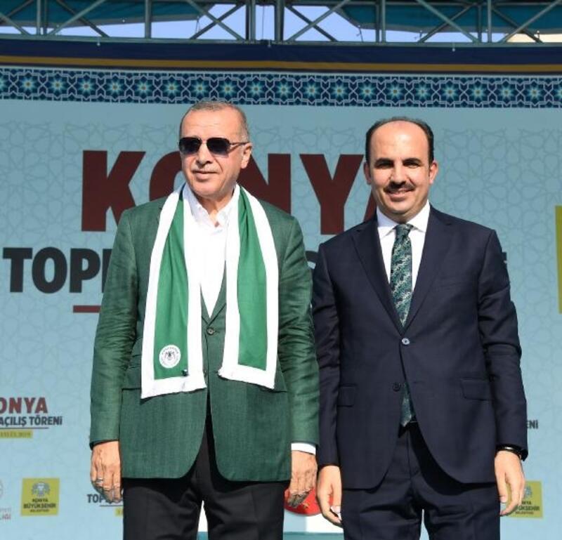 Konya Büyükşehir Belediye Başkanı Altay Cumhurbaşkanı Erdoğan'a teşekkür etti