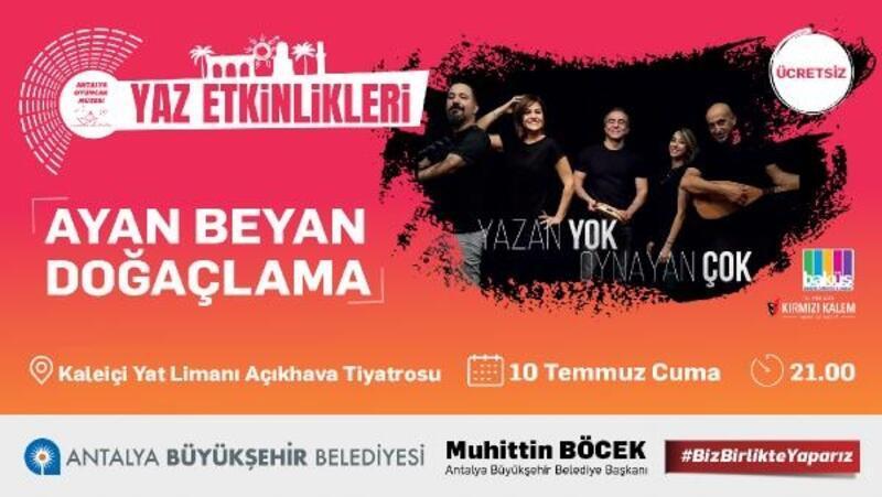 'Ayan Beyan Doğaçlama' Antalyalılarla buluşuyor