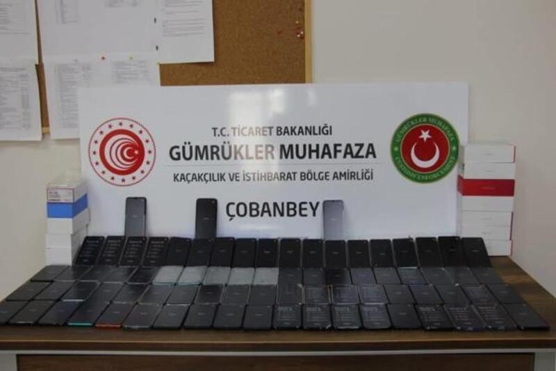 Kilis'te 263 adet kaçak telefonu ele geçirildi