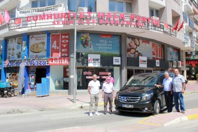 CHP Serik'e, Genel Merkez'den araç
