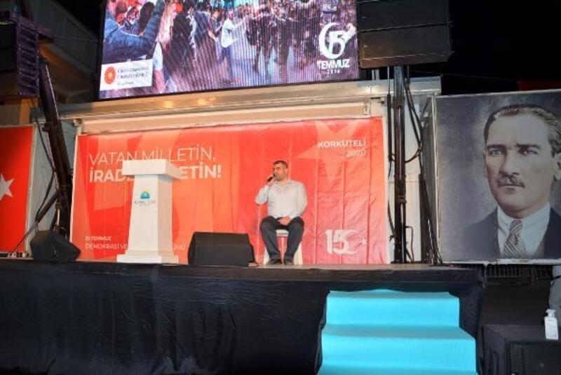 Korkuteli'de 15 Temmuz etkinlikleri