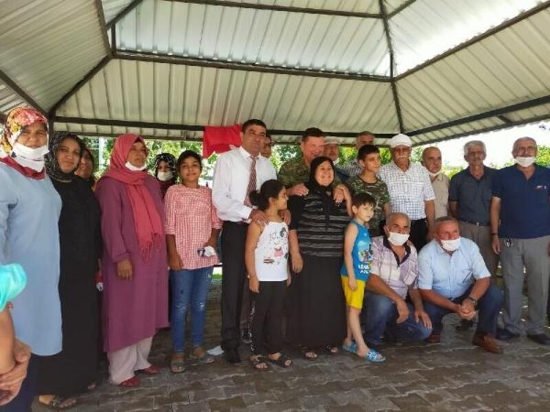 Albay Sancaktar'dan şehit ailelerine veda ziyareti