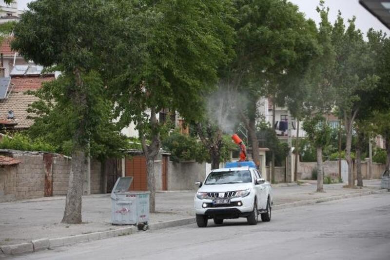 Meram Belediyesinin haşereyle mücadelesi devam ediyor