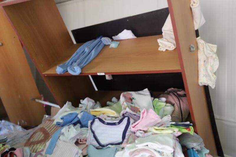 Azez'deki terör saldırısında ilaç dağıtım merkezi tahrip oldu