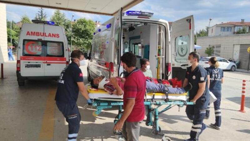 İnşaatın çatısından düşen işçi, yaralandı