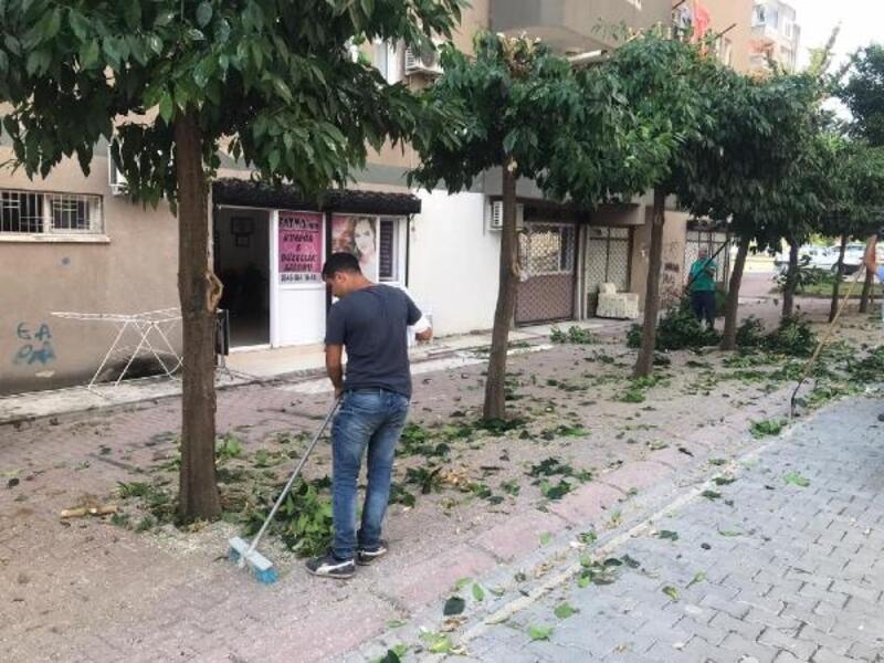 Ceyhan'da park ve bahçeler temizleniyor
