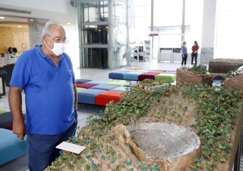 Tarihi yerlerin maketleri Büyükşehir fuayesinde