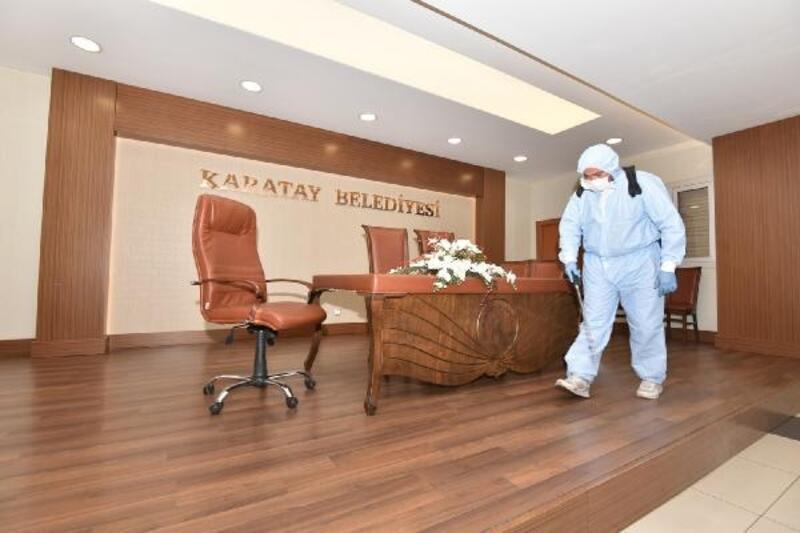 Karatay'da nikah salonları dezenfekte ediliyor