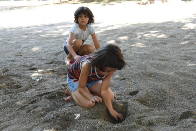 Çocukların kum havuzu isteği gerçekleşti