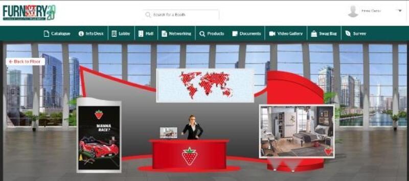 İlk uluslararası sanal mobilya fuarı Furnistry 2020'de Çilek esintisi