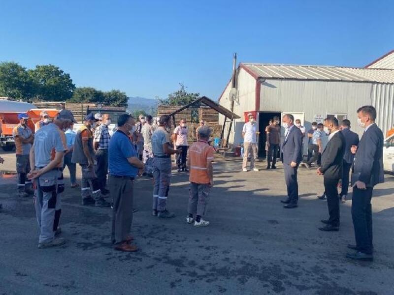 İnegöl'de Başkan Taban, mesaiye temizlik işçileriyle başladı
