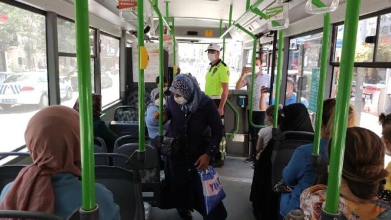 Toplu taşıma araçlarında maske denetimi