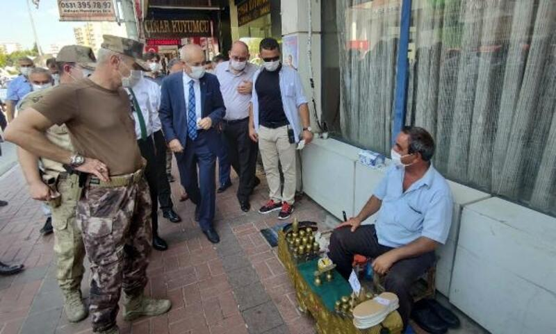 Osmaniye'de maske, sosyal mesafe ve hijyen denetimi