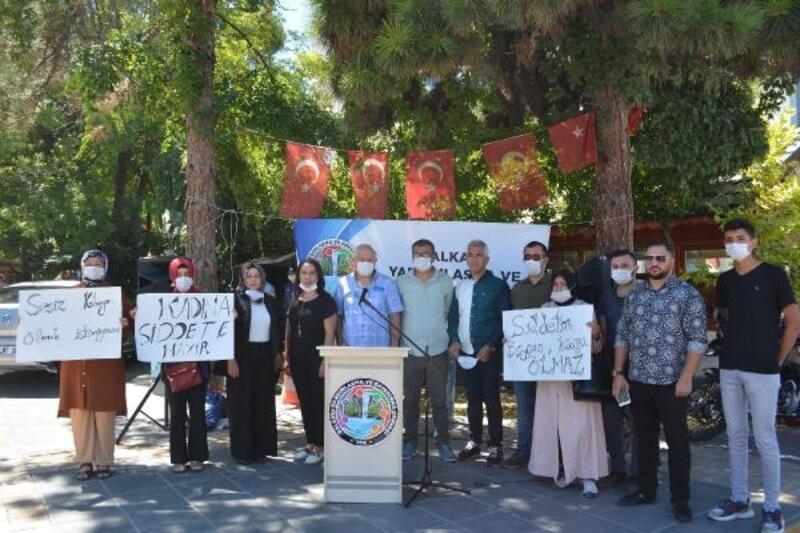 Kayseri'de kadına yönelik şiddete tepki