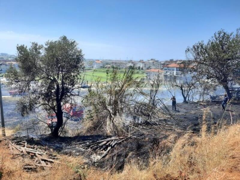 Manavgat'ta boş arsada yangın