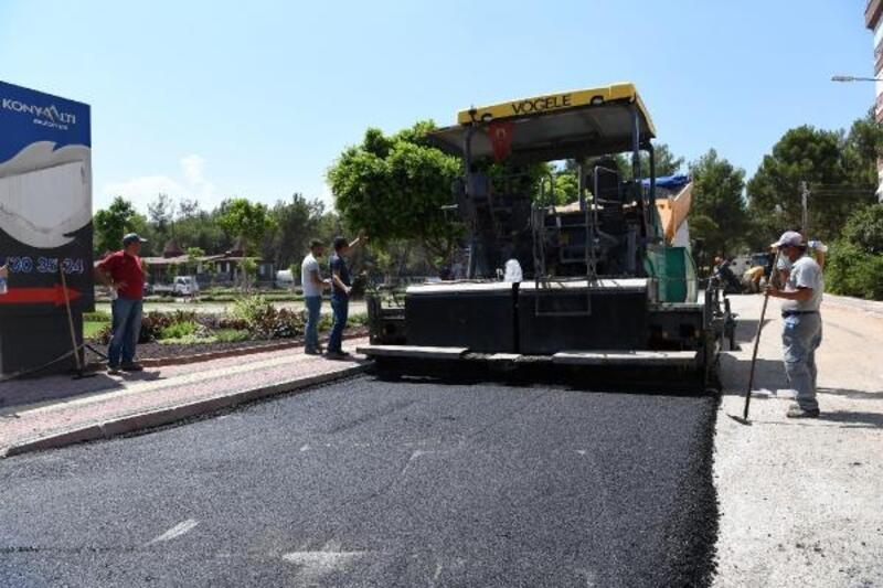 HayatPark'ın yollarına sıcak asfalt