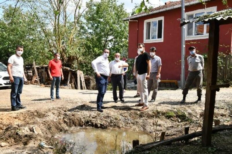 Mustafakemalpaşa'da dolu ve sel felaketini yaşayan mahallelerin yaraları sarıldı