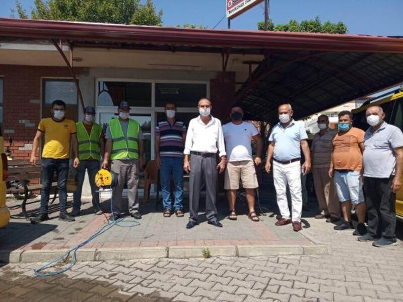 Manavgat'ta toplu taşıma araçları dezenfekte edildi
