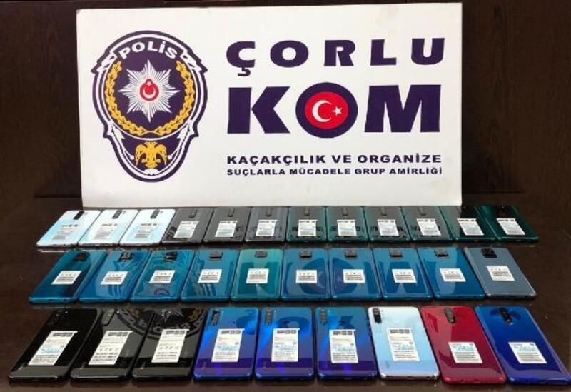 Tekirdağ'da 35 kaçak cep telefonu ele geçirildi