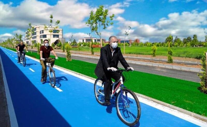İSTE bisiklet yolunun ilk etabı tamamlandı