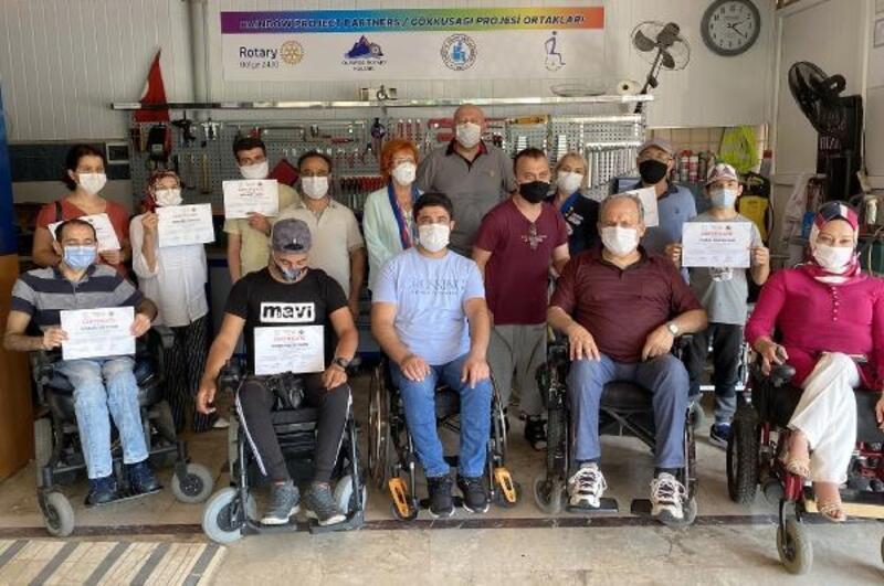 Olimpos Rotary'den engellilere anlamlı destek